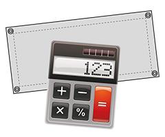 Banner / Werbeplanen Kalkulator