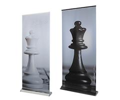 Rollup Display Bianco / Nero