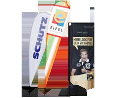 Mobile Werbefahnen