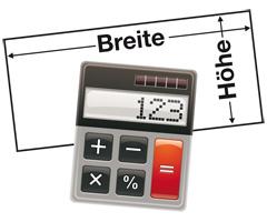 Werbeschild Kalkulator