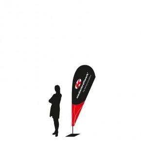 DropFlag EVO small Werbefahne - 231cm
