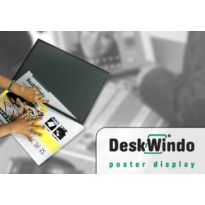 DeskWindo A3 Abdeckscheibe aus PC (transparent) - Posterdipslay