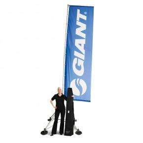 Werbefahne FlagStand XL 120x550 cm mit Gewichten