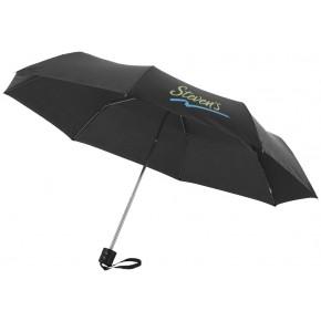 """21,5"""" Schirm mit 3 Segmenten - schwarz"""