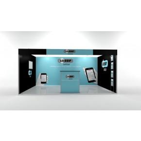 Messedisplay ISOframe fabric Reihenstand Maxi - 400x300 cm