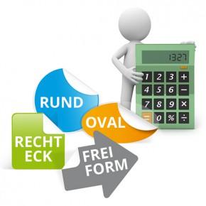 Aufkleber / Klebefolien online kalkulieren und günstig bestellen