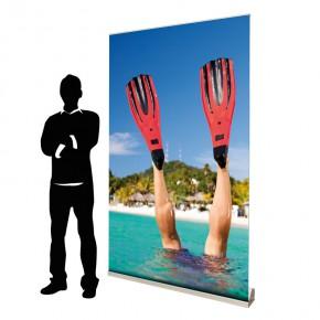 BannerUp 120cm Breite - das hochwertige RollUp Display