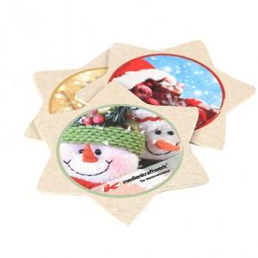 Bierdeckel mit Weihnachtsmotiv bedruckt