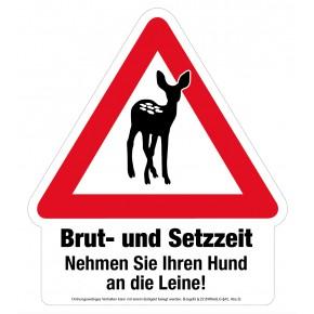 Hinweisschild - Brut- und Setzzeit - Warnschild - Forex