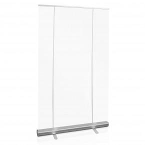 RollUp QuickEasy 120x200cm  mobile Spuckschutzwand -  mit transparenter Kunststofffolie - inkl. Motiv
