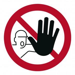 Verbotsschild Zutritt / Durchgang verboten - P006