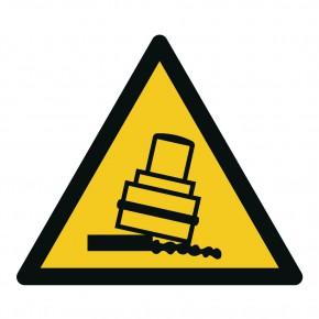 Warnschild Warnung vor Kippgefahr beim walzen - W024