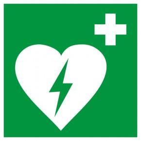 Rettungsschild Defibrillator