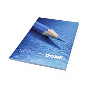 DIN A5 Notizbuch mit Wickelumschlag