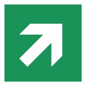 Laufrichtung Aufwärts - E000 - Rettungsschild