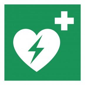 Rettungsschild Defibrillator - E010