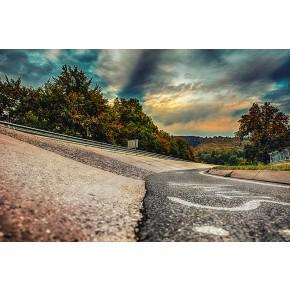 Einfahrt Karussell - Nürburgring - Wandbild