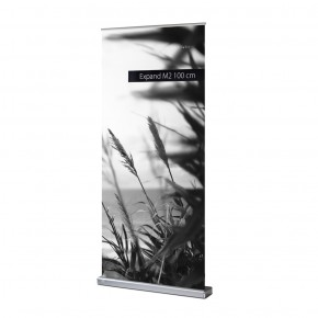 Expand M2 RollUp-Display 100/225 silber Basicline Set