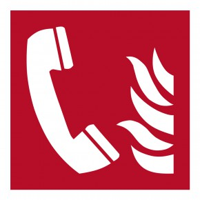 Brandmeldetelefon - Brandschutzschild