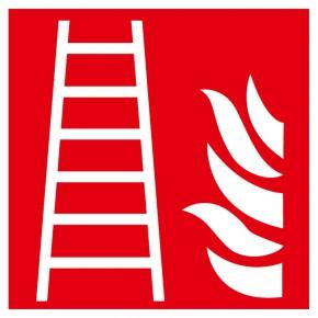 Feuerleiter - Brandschutzschild