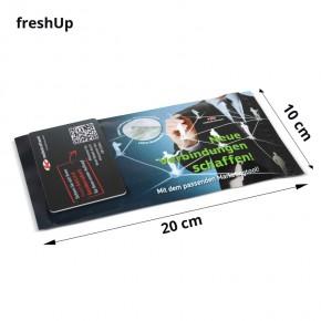 Erfrischungstuch mit Werbedruck-Verpackung / freshUp