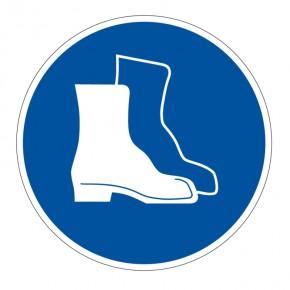Gebotsschild Fußschutz benutzen