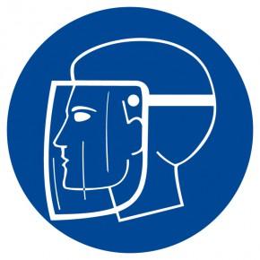 Gesichtsschutz benutzen - Gebotsschild
