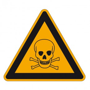 Warnschild Giftige Stoffe