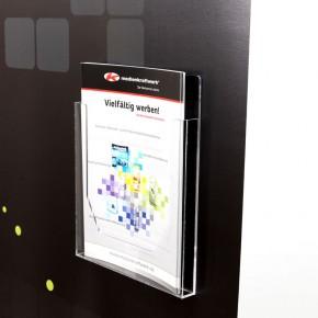 Acryl Prospektbox DIN A4 mit Magnet