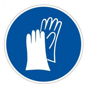Gebotsschild Handschuhe benutzen