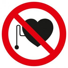 Verbotsschild Herzschrittmacher verboten