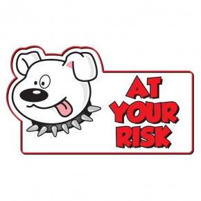 Warnschild Achtung Hund Englisch
