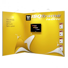 Messedisplay ISOframe fabric Eckstand - 300x200 cm Multimedia
