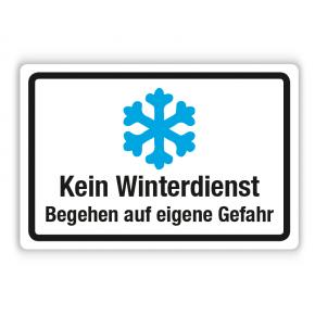 Schild - Kein Winterdienst - Begehen auf eigene Gefahr (2) auf Forex