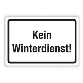 Schild - Kein Winterdienst (3) auf Forex