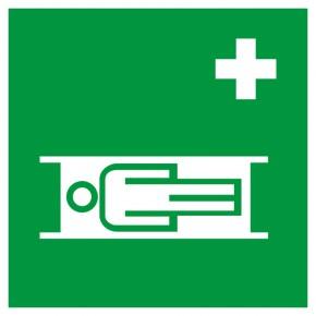 Rettungsschild Krankentrage