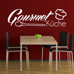 wandtattoo gourmet k che hier online g nstig kaufen medienkraftwerk. Black Bedroom Furniture Sets. Home Design Ideas