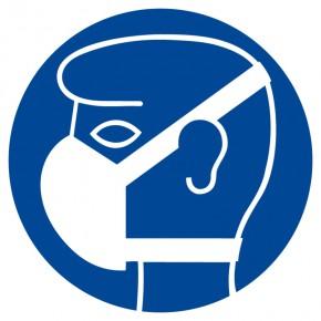 Leichten Atemschutz benutzen - Gebotsschild