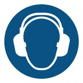 Gebotsschild Gehörschutz benutzen - M003