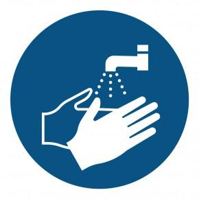 Gebotsschild Hände waschen - M011