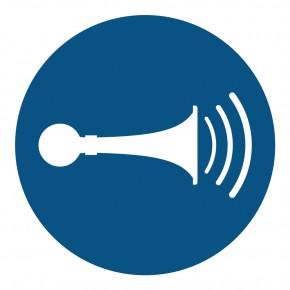 M029 - Akustisches Signal geben / Hupen - Gebotsschild