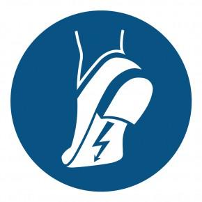 Antistatisches Schuhwerk benutzen - M032 - Gebotsschild