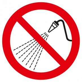 Verbotsschild Mit Wasser spritzen verboten