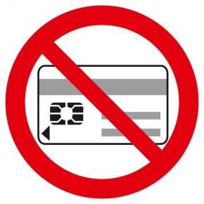 Verbotsschild Mitführen von Datenträgern verboten