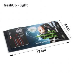 Erfrischungstuch mit Werbedruck-Verpackung / freshUp Light