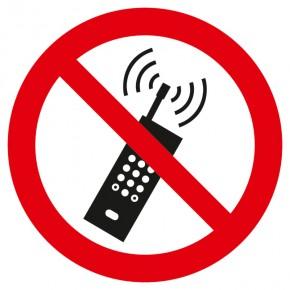 Verbotsschild Mobilfunk verboten