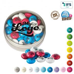M&M's® Klarsichtbox - Schokolinsen mit individuellem Druck