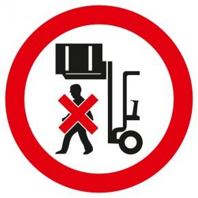 Verbotsschild Nicht unter angehobene Last stellen