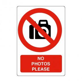 Schild keine fotos