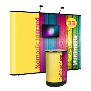 Nomadic InstandPlus P33 Multimediakit mit RollOne Case - Faltdisplay